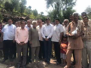 MLC Vibodh Gupta During Visit to Far Off Border Villages of Rajouri