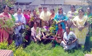 BJP Mahila Morcha organizes plantation drive
