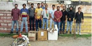 BJYM Jammu organised cleanliness drive