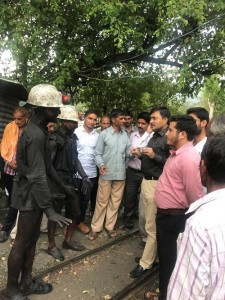 MLC Interacting with coal mine workers