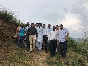 MLC Vibodh During a tour of border villages
