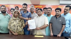 Sat hands appointment letter to son of martyr Chamel Singh