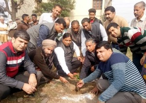 BJP holds plantation drive in revenue complex-i