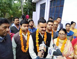 BJP inaugurates lane work in Ward-40