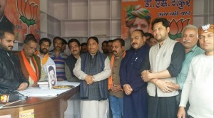 BJP pays tributes to Gowhar Hussain (2)