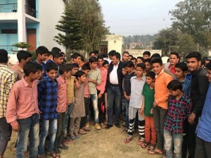 MLC Vibodh Gupta with students of Pahari Hostel Rajouri