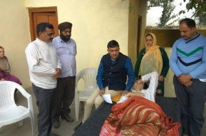MLC Vibodh Visits the Residence of Cancer Patient at Saranoo.