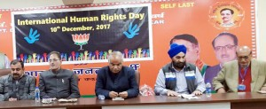 BJP State Human Right Cell celebrates